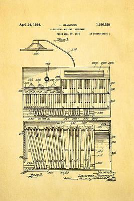 Hammond Photograph - Hammond Organ Patent Art 1934 by Ian Monk