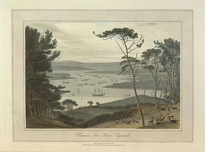 Hamoaze From Mount Edgecumbe Art Print by British Library
