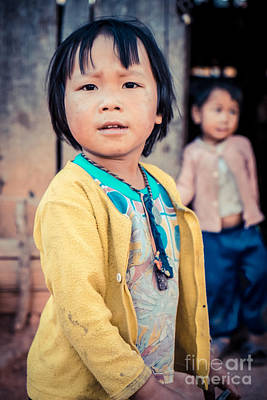 Hmong Photograph - Hamong Little Child by Sabino Parente