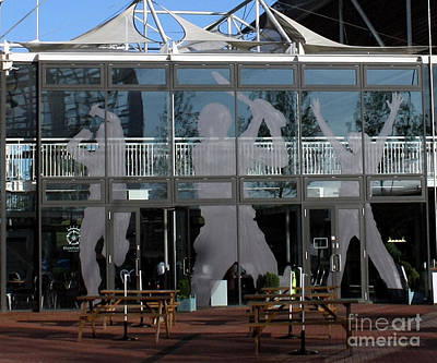 Hampshire County Cricket Glass Pavilion Art Print by Terri Waters