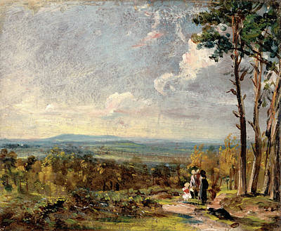 Hampstead Painting - Hampstead Heath, London,  Looking Towards Harrow A View by Litz Collection