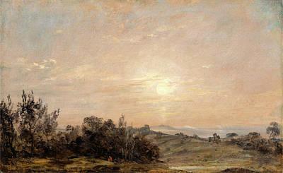 Hampstead Painting - Hampstead Heath Looking Towards Harrow Hampstead Heath by Litz Collection