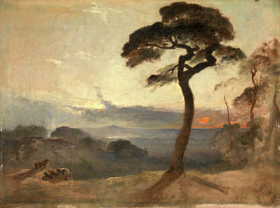 Hampstead Painting - Hampstead Heath, Sunset, Francis Danby, 1793-1861 by Litz Collection