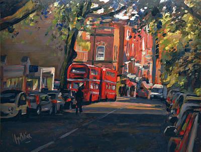 Painting - Hampstead High Street London by Nop Briex