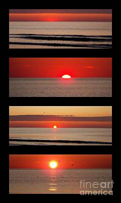 Photograph - Hampton Beach Sunrise Collage by Eunice Miller