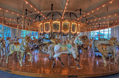 Photograph - Hampton Carousel by Jerry Gammon