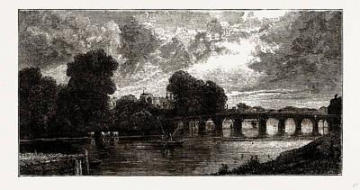 Hamptons Drawing - Hampton Court Bridge by Litz Collection