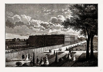 Hampton Court, From A Print Published About 1770 Art Print