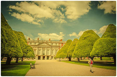 Photograph - Hampton Court Palace Gardens Visitors by Lenny Carter