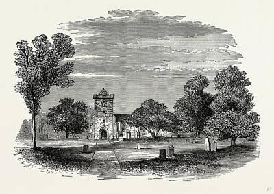 Hamptons Drawing - Hampton Lovett Church, Uk, England, Engraving 1870s by Litz Collection