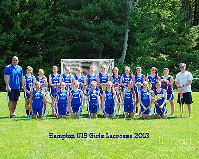Hampton U15 Girls 2013 Art Print