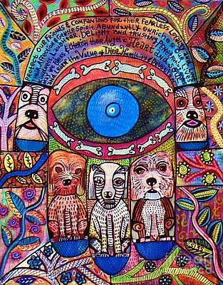 Hamsa Dog Blessing' Art Print by Sandra Silberzweig