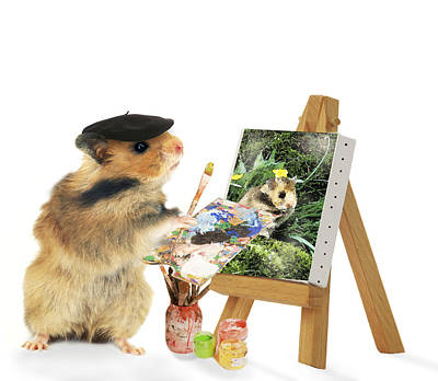 Painting - Hamster Painting by Jean-Michel Labat