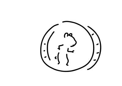 Everyday Life Drawing - Hamster Pinch Hamster's Wheel by Lineamentum