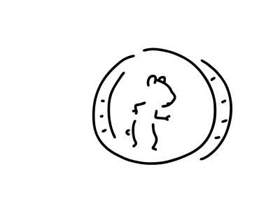 Hamster Drawing - Hamster Pinch Hamster's Wheel by Lineamentum