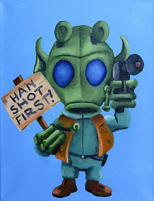 Painting - Han Shot First  by Chris  Leon