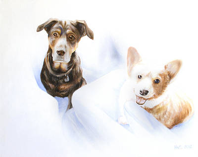 Kevin Hill Painting - Hana And Olive by Kevin Hill