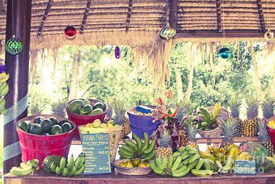 Lilikoi Photograph - Hana Fresh Local Fruit by Sharon Mau