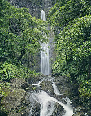 Photograph - 100105-hanakapiai Falls, Kauai  by Ed  Cooper Photography