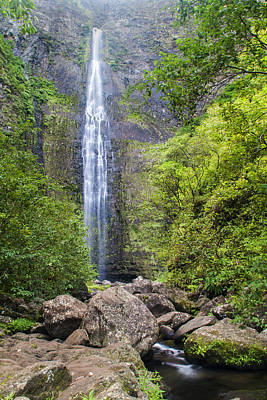 Photograph - Hanakapiai Falls - Kalalau Trail Kauai Hawaii by Brian Harig