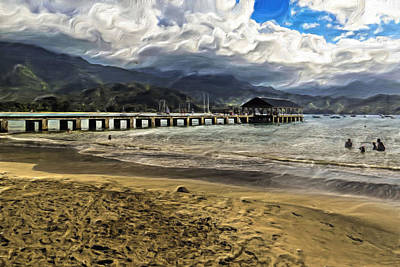 Photograph - Hanalei Pier by Gordon Engebretson