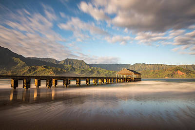 Photograph - Hanalei Bay Pier Kauai by Pierre Leclerc Photography