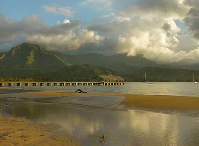 Hanalei Bay Reflections - Kauai Art Print