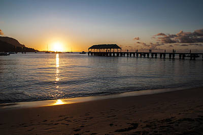 Hanalei Bay Sunset Art Print by Brian Harig