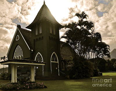 Photograph - Hanalei Church by Tracey McQuain