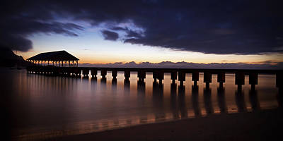 Photograph - Hanalei Dusk by Michael Yeager
