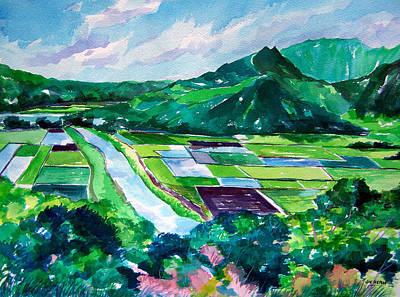 Hanalei From The Lookout Art Print by Jon Shepodd