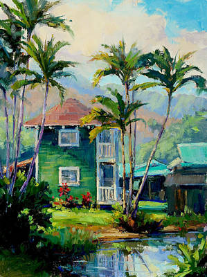Mountain Royalty-Free and Rights-Managed Images - Hanalei House by Jenifer Prince