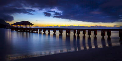 Photograph - Hanalei Twilight by Michael Yeager
