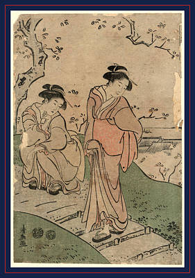 Cherry Blossom Drawing - Hanami, Cherry Blossom Viewing. Between 1791 And 1793 by Torii, Kiyonaga (1752-1815), Japanese