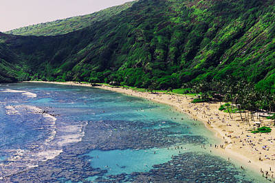 Hanauma Bay In Hawaii Art Print by Hisao Mogi