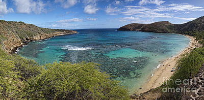 Photograph - Hanauma Bay Panorama by David Smith