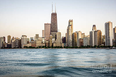 Hancock Building And Chicago Skyline Art Print by Paul Velgos