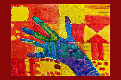 Painting - Hand - Abstract by Marie Jamieson