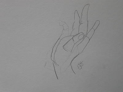 Drawing - Hand by AJ Brown