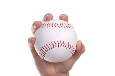Photograph - Hand And The Baseball Ball by Marek Poplawski
