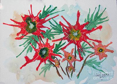 Hand Blown Craziness In A Flower Original