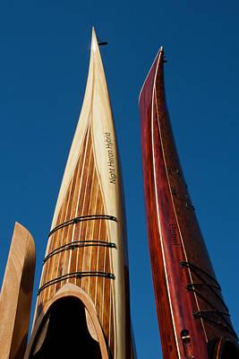 Photograph - Hand-built Wooden Kayaks by Lauren Brice