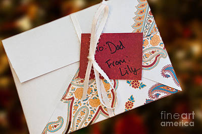 Photograph - Hand Crafted Holiday Envelope by Lawrence Burry