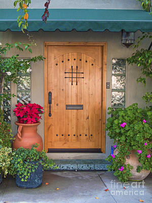 Photograph - Hand Crafted Wooden Door by David Zanzinger