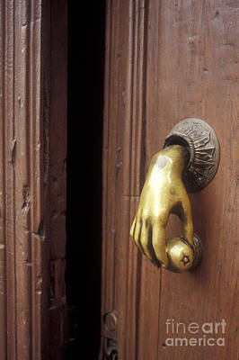 Photograph - Hand Door Knocker San Miguel De Allende Mexico by John  Mitchell