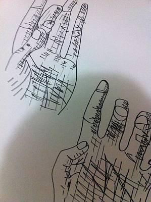 Drawing - Hand Drawing by Khoa Luu
