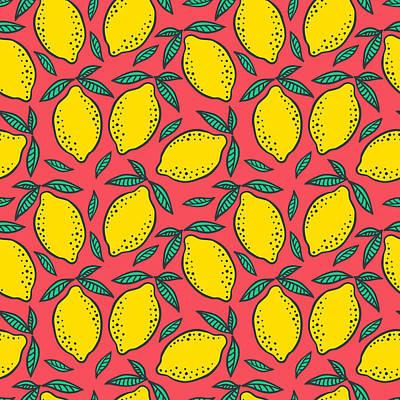 Digital Art - Hand Drawn Colorful Seamless Pattern Of by Ekaterina Bedoeva