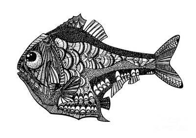Hand Drawn Vector Illustration. Retro Art Print