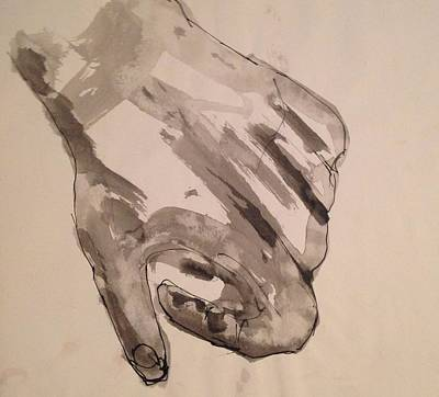 Drawing - Hand by Erika Chamberlin
