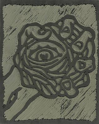 Linoleum Mixed Media - Hand Eye Coordination Linoleum Block Carving by Shawn Vincelette